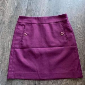 Plum skirt from Loft
